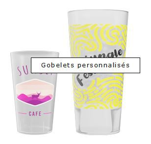 GOBELET CUP Events PERSONNALISABLE - Impression QUADRI Digitale